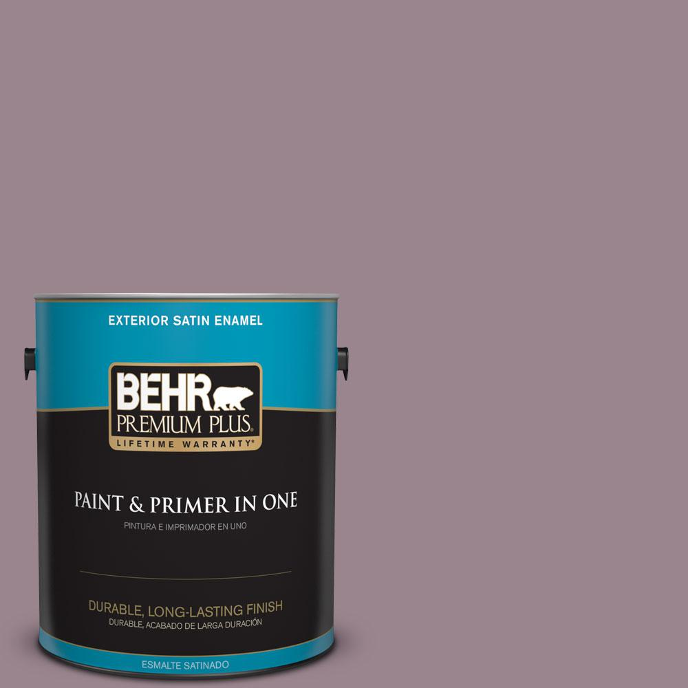 BEHR Premium Plus Home Decorators Collection 1-gal. #HDC-CL-05 Orchard Plum Satin Enamel Exterior Paint