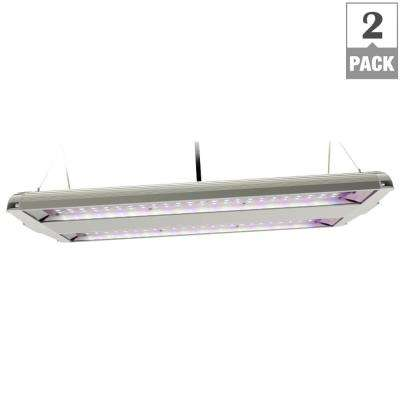 14 in. 82-Watt Integrated LED Full Spectrum High Bay Plant Grow Light Fixture (Case of 2)