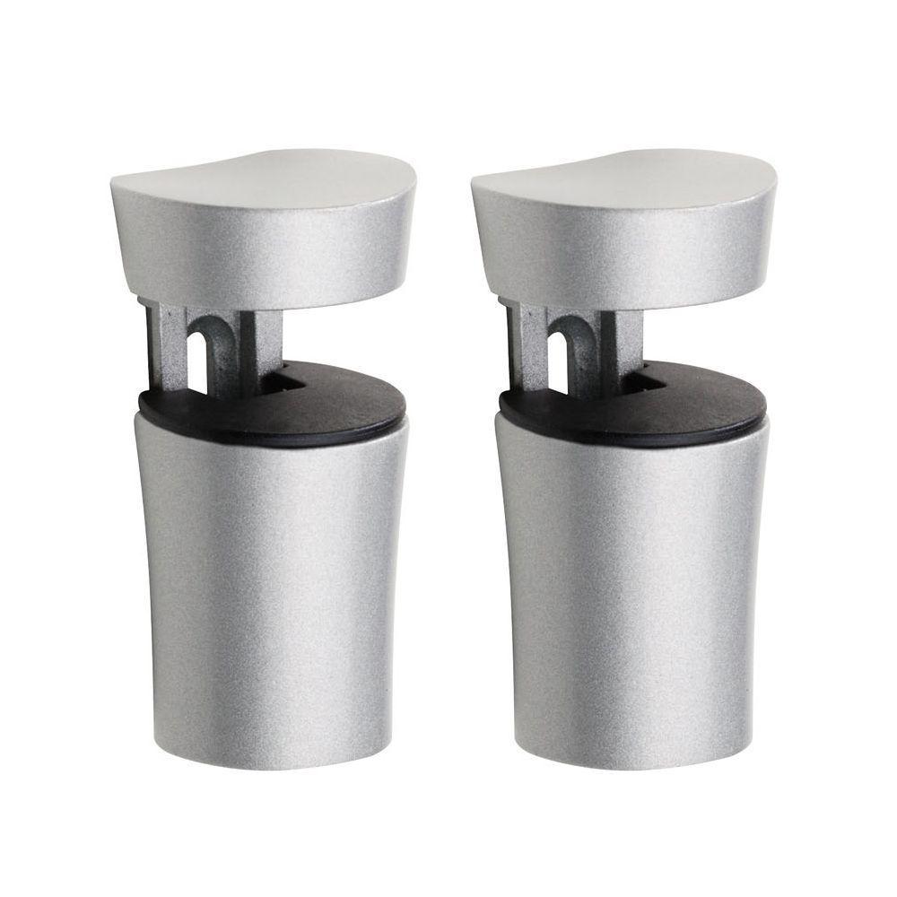 Bin 1/4 in. to 1 in. Shelf Bracket Set in Silver
