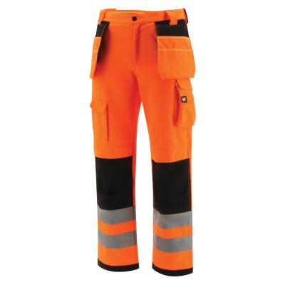 Hi-Vis Trademark Men's 42 in. W x 34 in. L Hi-Vis Orange Polyester/Cotton Cargo Work Pant