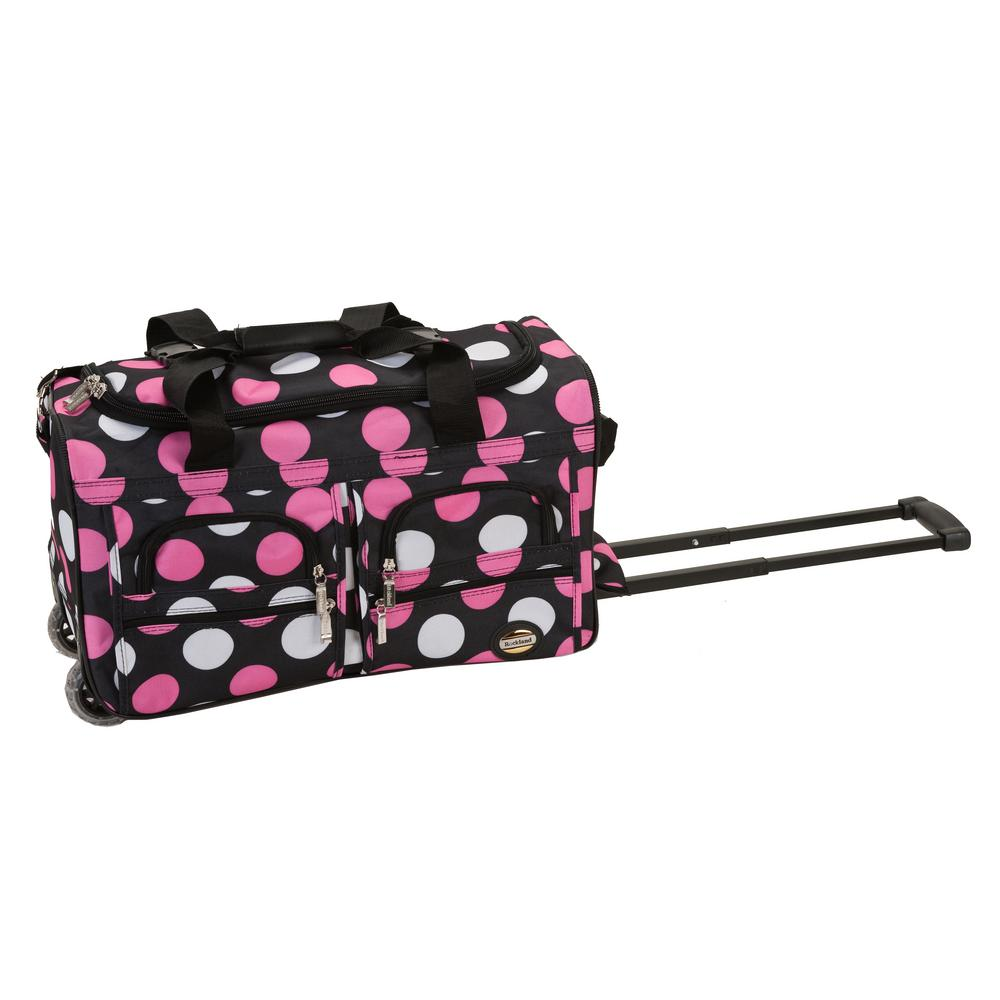 rockland 22 in  rolling duffle bag-prd322-newmulpl