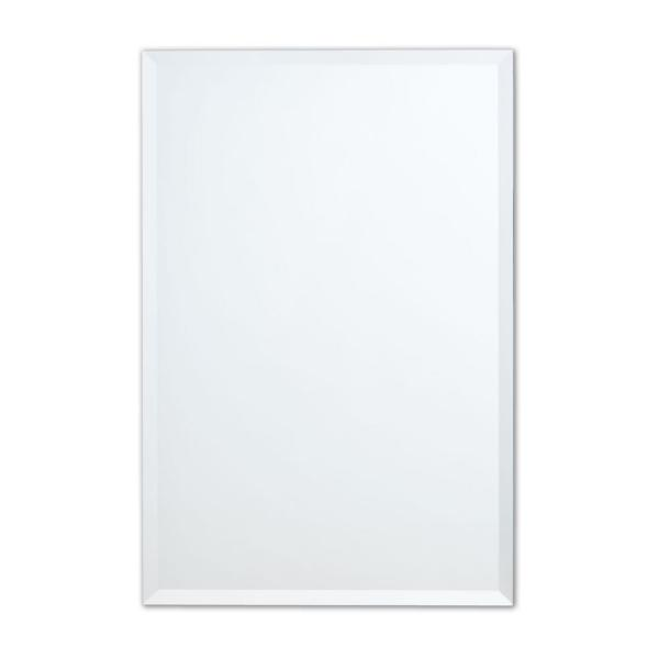24 in. W x 36 in. H Frameless Rectangular Beveled Edge Bathroom Vanity Mirror