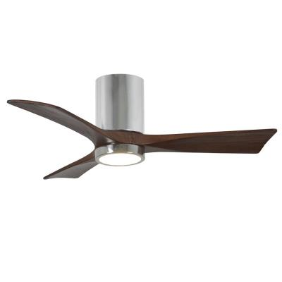 Irene 42 in. LED Indoor/Outdoor Damp Polished Chrome Ceiling Fan with Remote Control, Wall Control