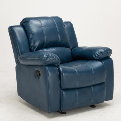 Clifton Navy Blue Faux Leather Recliner