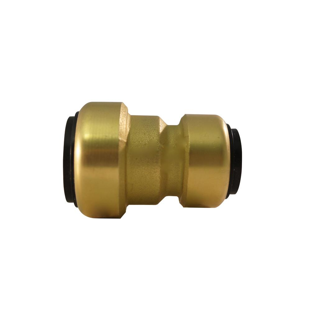 1 in. Brass Push-to-Connect x 3/4 in. Push-to-Connect Reducer Coupling