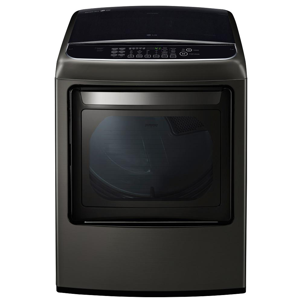7.3 cu. ft. Electric Dryer with Steam in Black Stainless Steel,