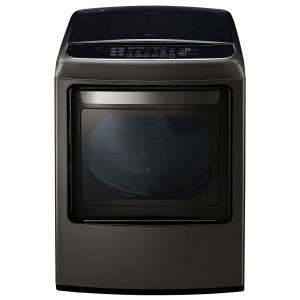 7.3 cu. ft. Smart Electric Dryer with Steam and WiFi Enabled in Black Stainless Steel, ENERGY STAR