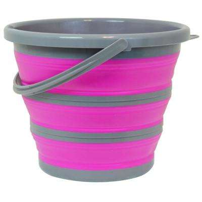 2.65 Gal. Pink Collapsible Bucket Deluxe