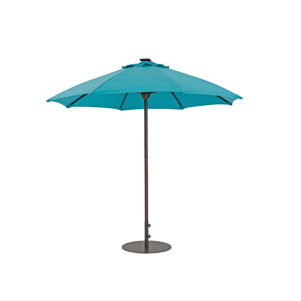 Automatic Market Patio Umbrella With Lights In Aruba