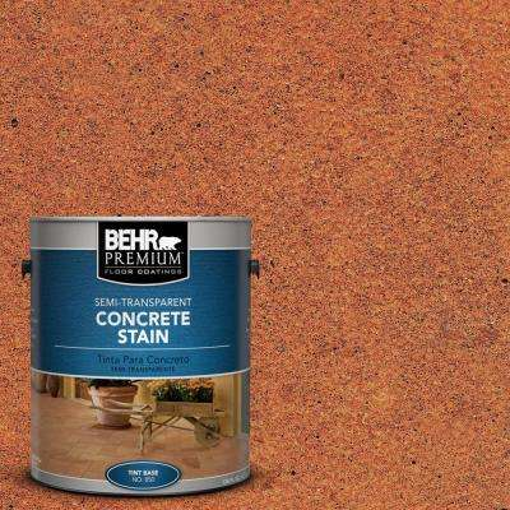1 gal. #STC-30 Terra Cotta Glaze Semi-Transparent Interior/Exterior Concrete Stain