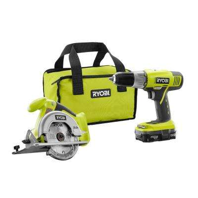 18-Volt ONE+ Lithium-Ion 2-Tool Combo Kit with Drill, Circular Saw, 1.3 Ah Battery, Dual Chemistry Charger, and Tool Bag