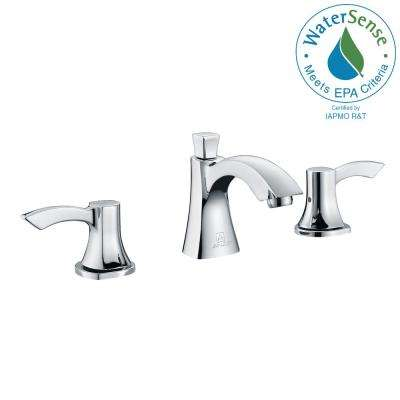 Sonata Series 8 in. Widespread 2-Handle Mid-Arc Bathroom Faucet in Polished Chrome