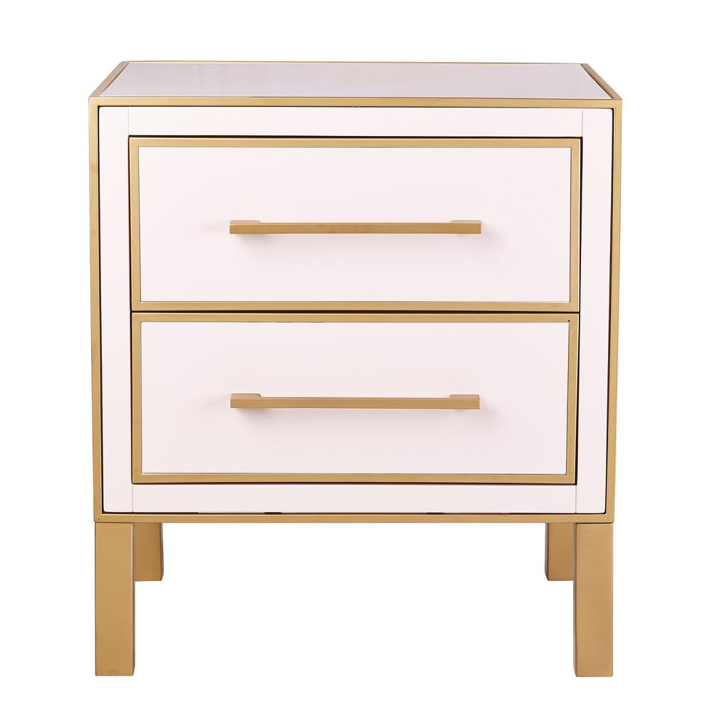 Gentil TOV Furniture Emily Pink Lacquer Side Table