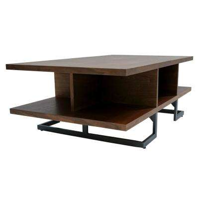 Jorden Open Concept Medium Walnut Coffee Table