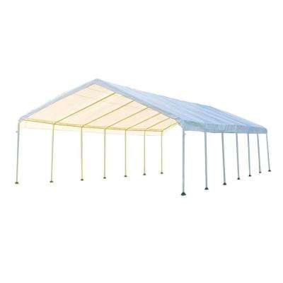 Super Max 18 ft. x 40 ft. White Premium Canopy