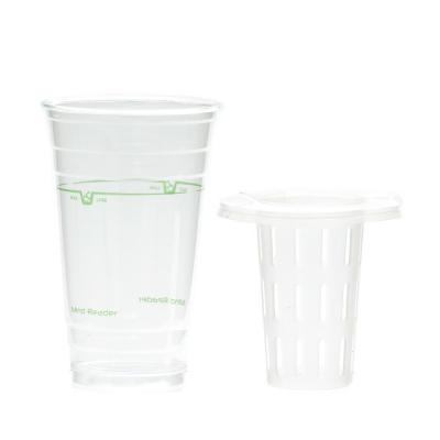24 oz. Disposable Cups with Fruit Infuser in Lid Straw (30-Pack)