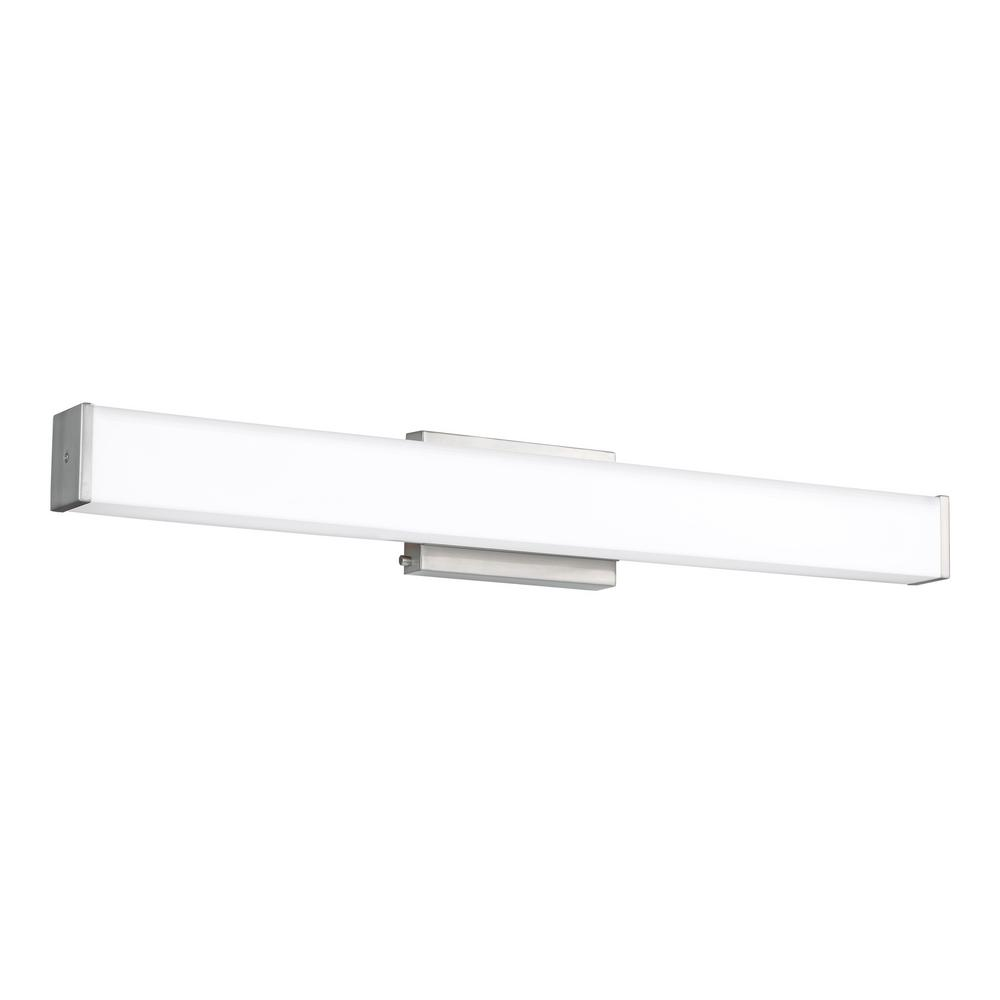 Sea Gull Lighting Aldridge 33-Watt Brushed Nickel Integrated LED Bath Light