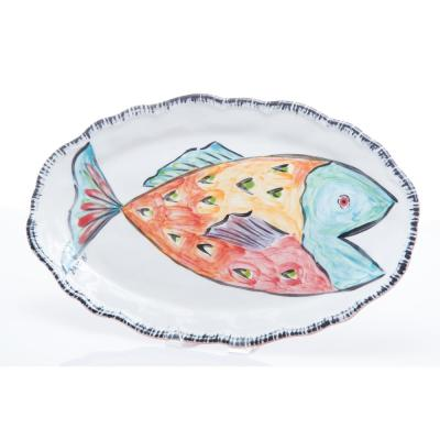 Napoli Red Fish Ceramic Platter