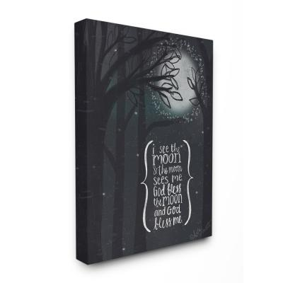 """The Stupell Home Decor Collection 30 in. x 40 in. """"I See The Moon Inspirational Typography"""" by Katie Doucette..."""