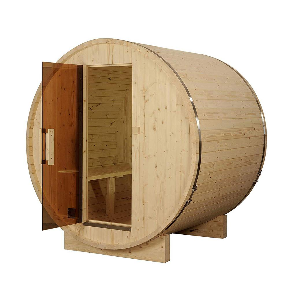 4-Person Pine Electric Heater Sauna