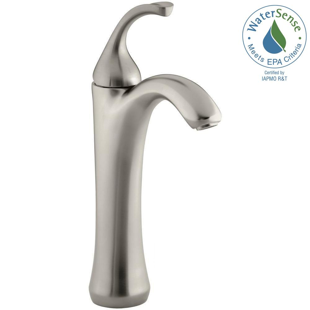 Forte Single Hole Single Handle Mid-Arc Bathroom Faucet in Vibrant Brushed