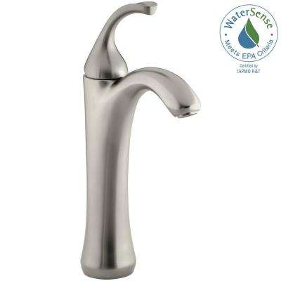 Forte Single Hole Single Handle Mid-Arc Bathroom Faucet in Vibrant Brushed Nickel