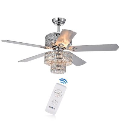 Empire 52 in Indoor Chrome Finish Remote Controlled Ceiling Fan with Light Kit