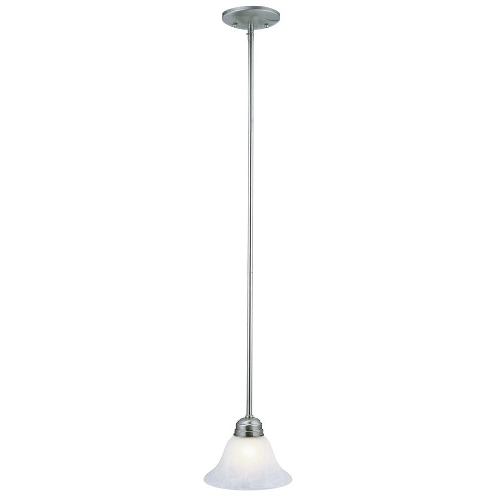 Design House Millbridge 1-Light Satin Nickel Mini Pendant