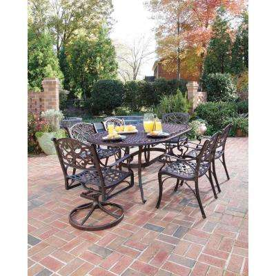 Biscayne Bronze 7-Piece Patio Dining Set (4 Stationary/2 Motion)