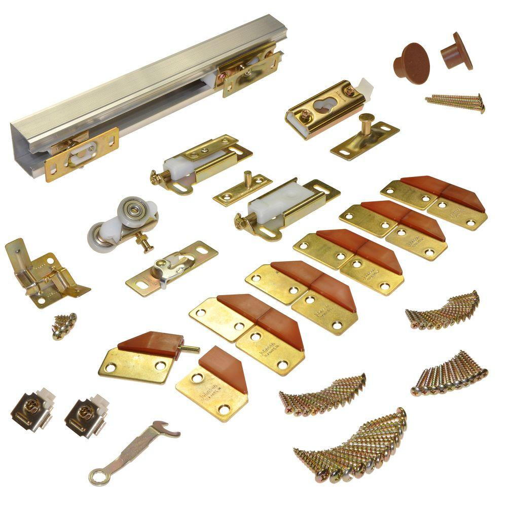 Johnson Hardware 100FD Series 60 in. Track and Hardware Set for 4 ...