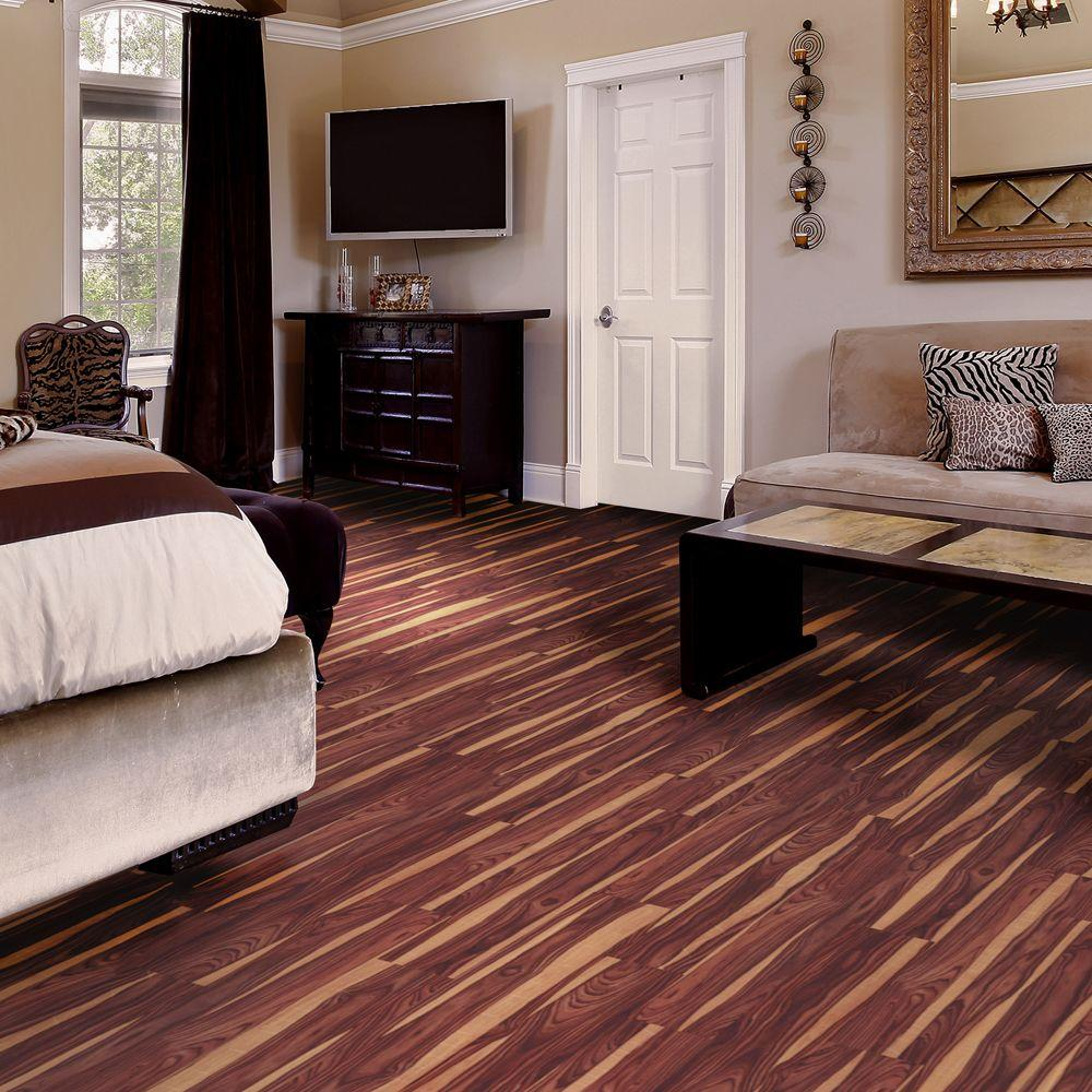 Trafficmaster African Wood Dark 6 In X 36 Luxury Vinyl Plank Flooring 24 Sq Ft Case