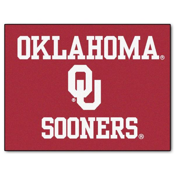 Fanmats University Of Oklahoma 3 Ft X 4 Ft All Star Rug 2390 The Home Depot