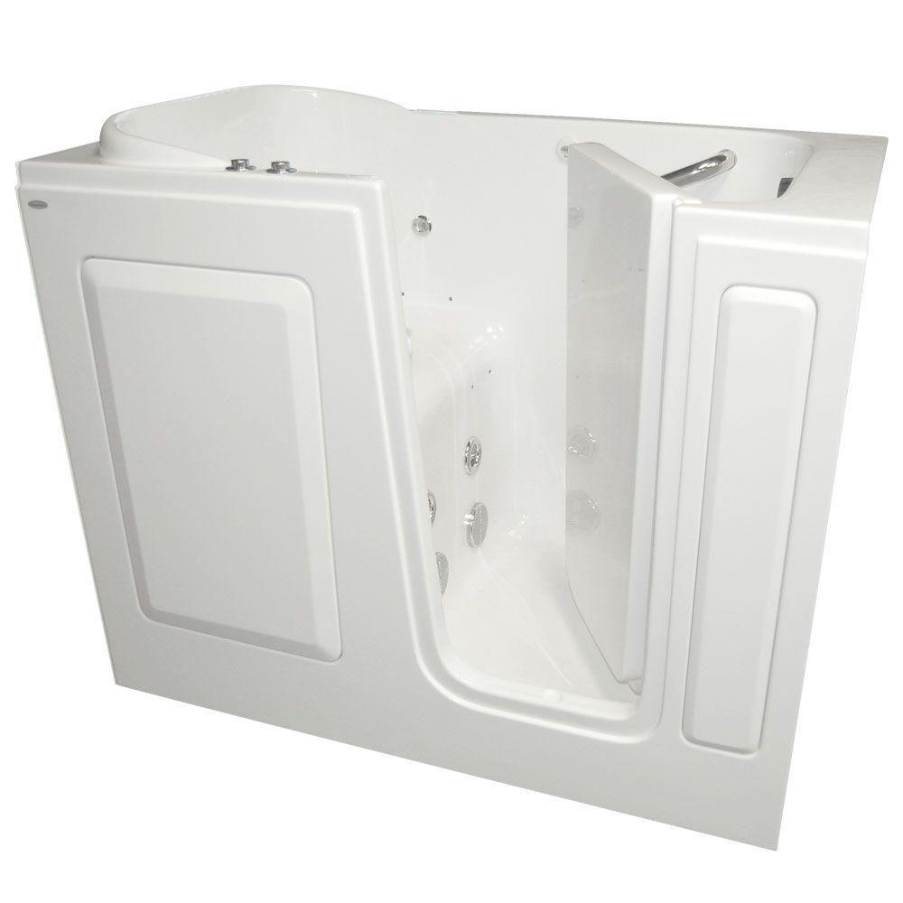 American Standard Gelcoat 4 ft. Walk-In Whirlpool and Air Bath Tub with Right Drain in White