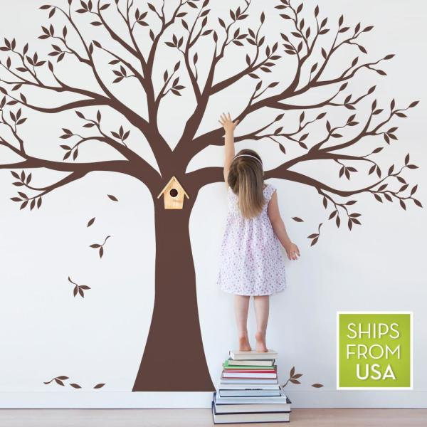 Huge Black//Brown Family Photo Frame Tree Branch /& Leaves wall decal sticker by WallStickersDecal Black