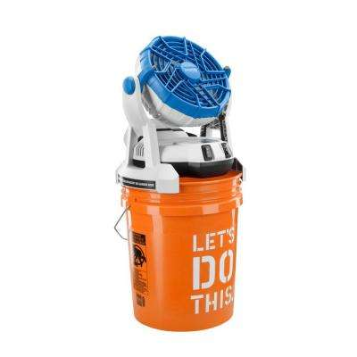 18-Volt Two Speed Misting Bucket Top Fan