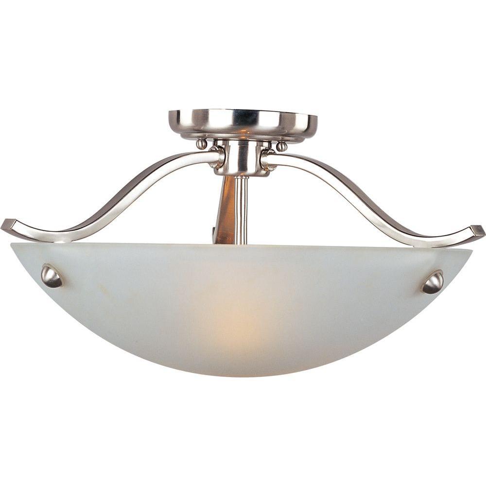 Maxim Lighting Contour 2-Light Satin Nickel Semi-Flush Mount Light