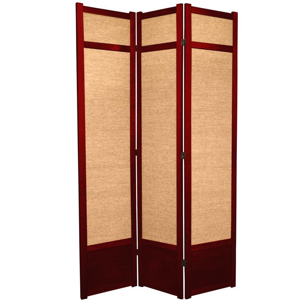 7 ft. Rosewood 3-Panel Room Divider
