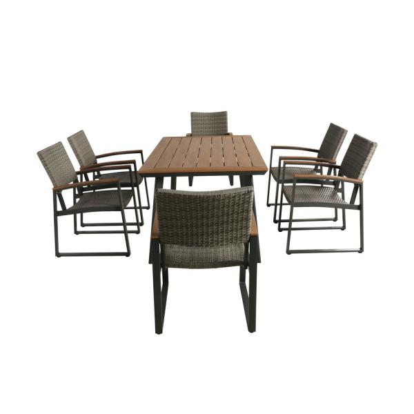 Aluminum And Wicker Outdoor Dining