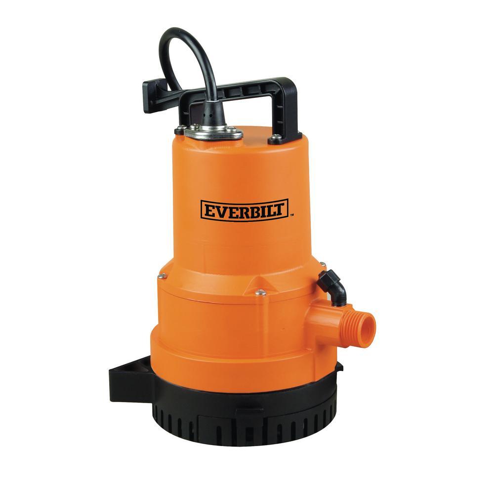 Everbilt 1/4 HP 2-in-1 Utility Pump
