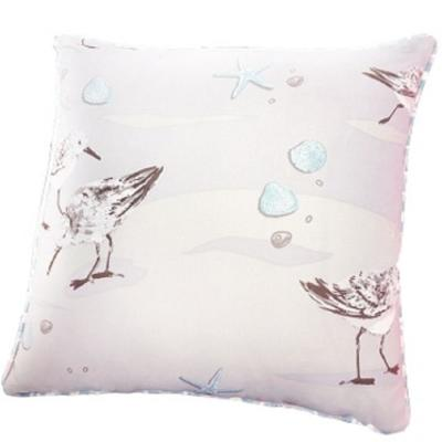 Beige Sandpiper 17 in. L x 17 in. W Polyester Throw Pillow