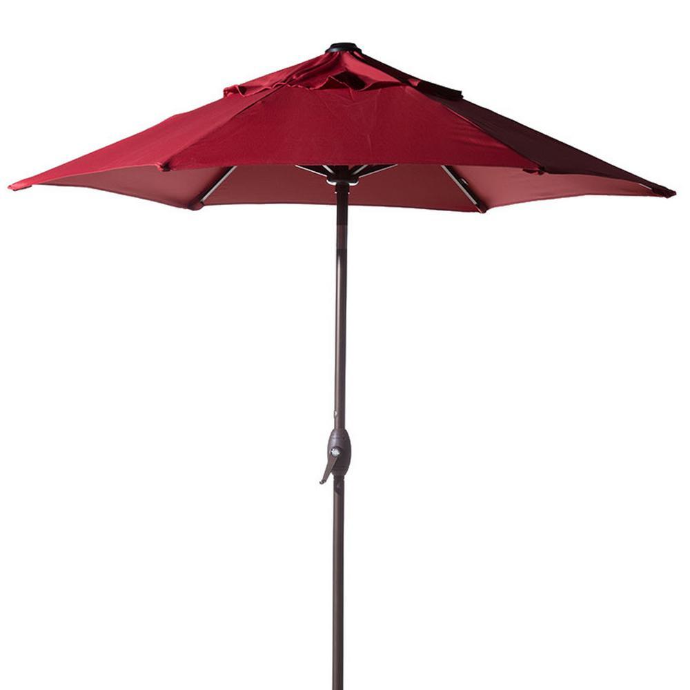 Patio Umbrella Rental: Abba Patio 7-1/2 Ft. Round Outdoor Market With Push Button