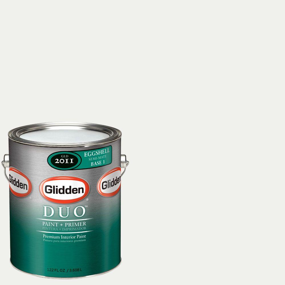 Glidden DUO Martha Stewart Living 1-gal. #MSL057-01E Picket Fence Eggshell Interior Paint with Primer-DISCONTINUED