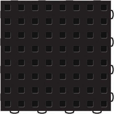 TechFloor 12 in. x 12 in. Black/Black Vinyl Flooring Tiles (Quantity of 10)