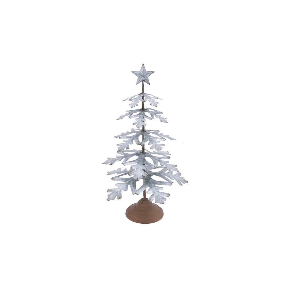 Galvanized Metal Tree With Star Topper