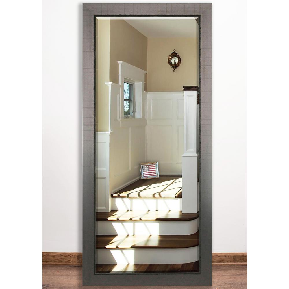 31.5 in. x 65 in. Silver Swift Beveled Full Body Mirror