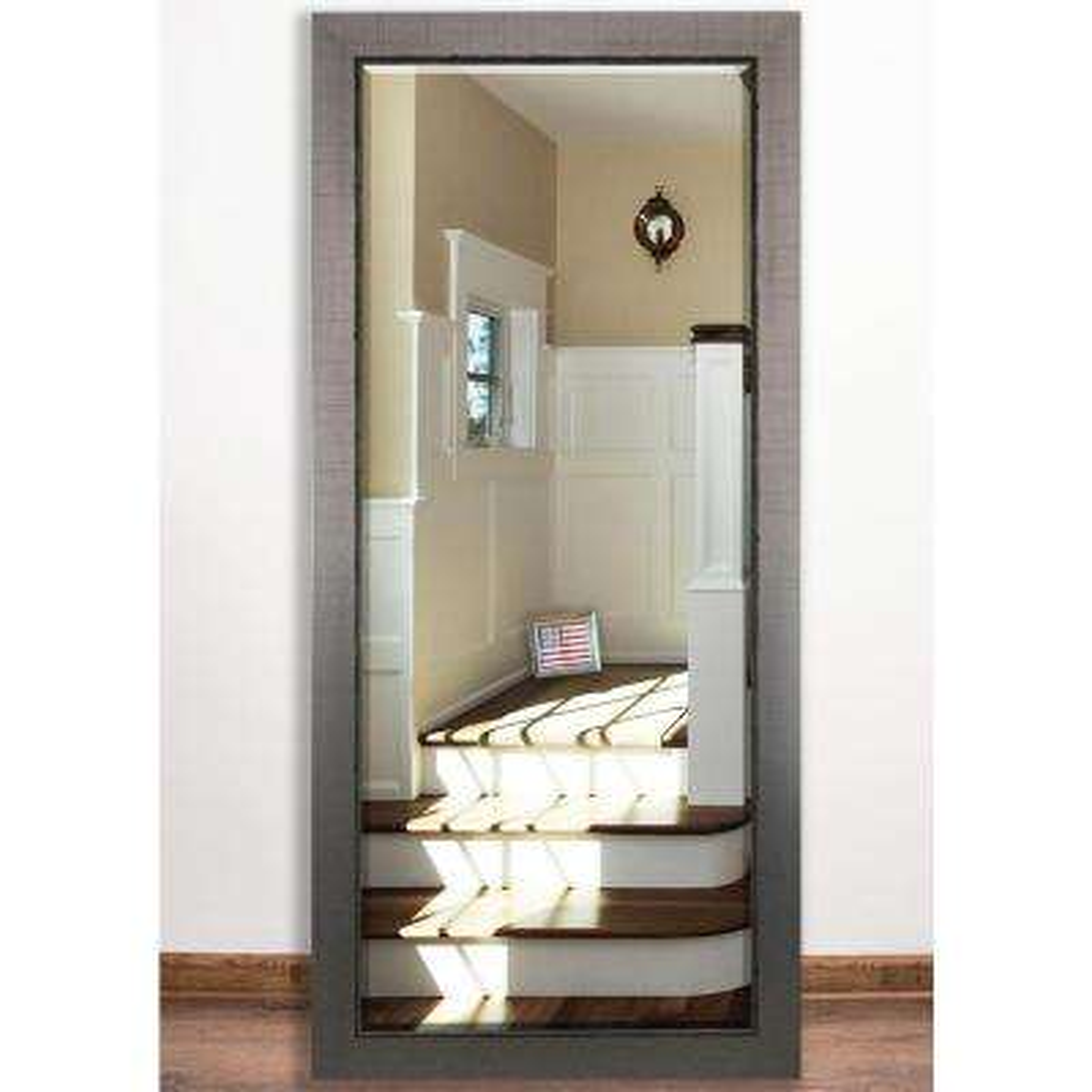 31.5 in. x 65 in. Silver Swift Beveled Full Body Mirror