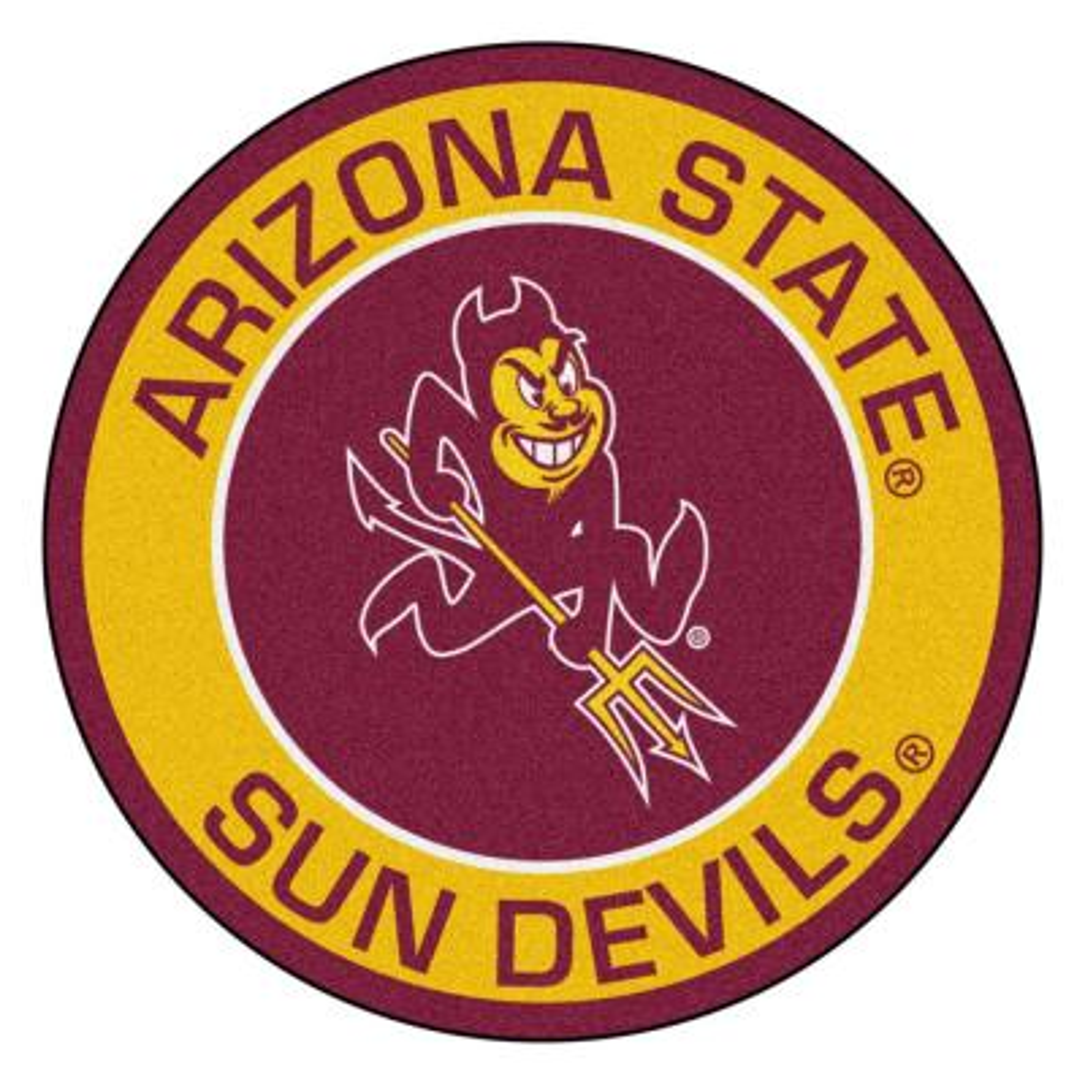 NCAA Arizona State University 27 in. Round Roundel Mat Area Rug