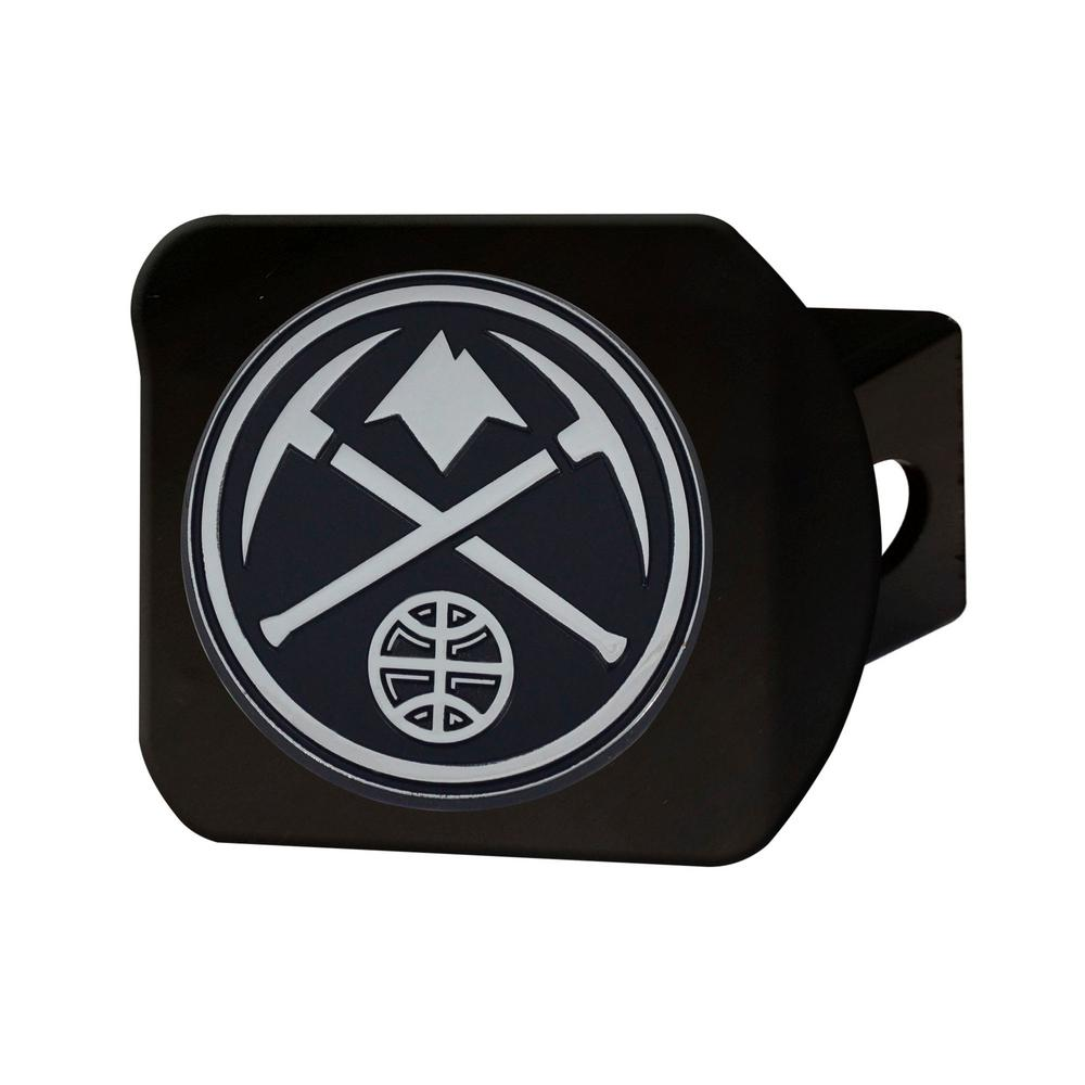 NBA Denver Nuggets Class III Black Hitch Cover with Chrome Emblem