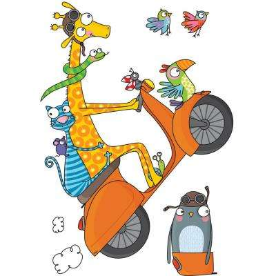 """(42 in x 31.4 in) Multi-Color """"Let's Go!"""" Kids Wall Decal"""