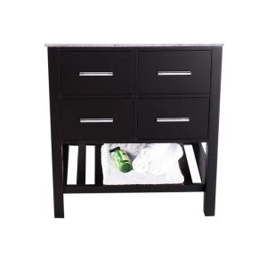 29 inch Main Cabinet Only in Black with Matte/Polished Chrome Hardware